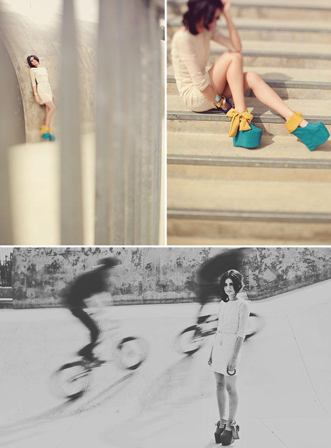 wedding fashion blue shoes