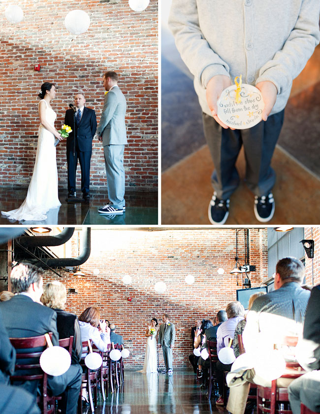 modern urban wedding ceremony