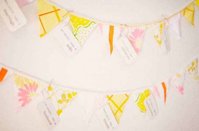 pastel bunting flags