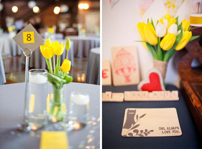 yellow tulips wedding