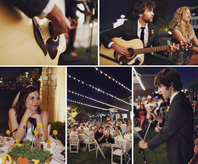 groom sings to his bride