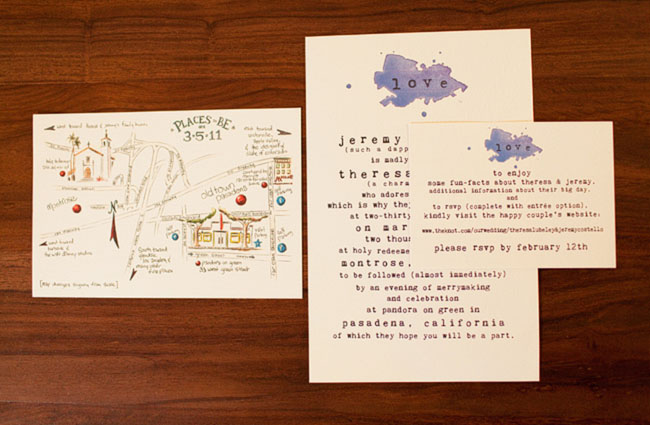 wedding watercolor invitations