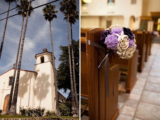 paper-flowers-wedding-church