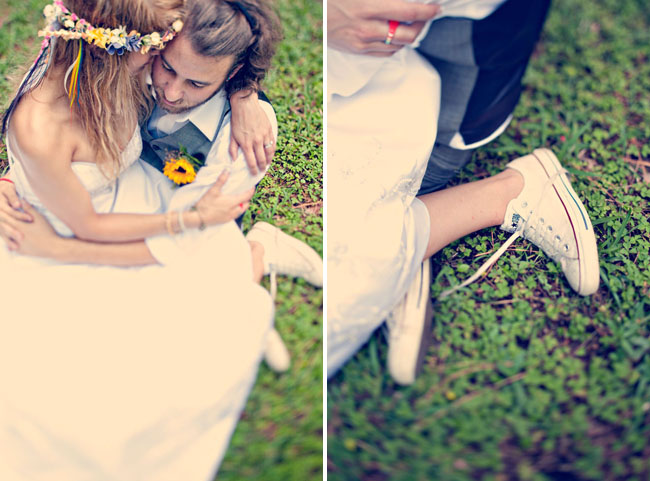 bride in converse chuck taylor allstars sneakers