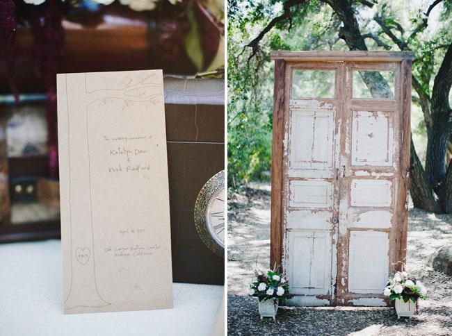 door at wedding ceremony
