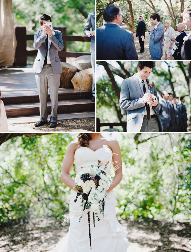 photographer photographing own wedding
