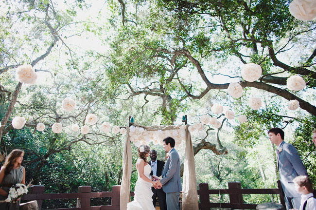 rustic wedding in the woods