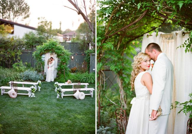 wedding in a garden