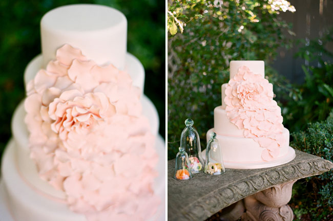 romantic pink wedding cake