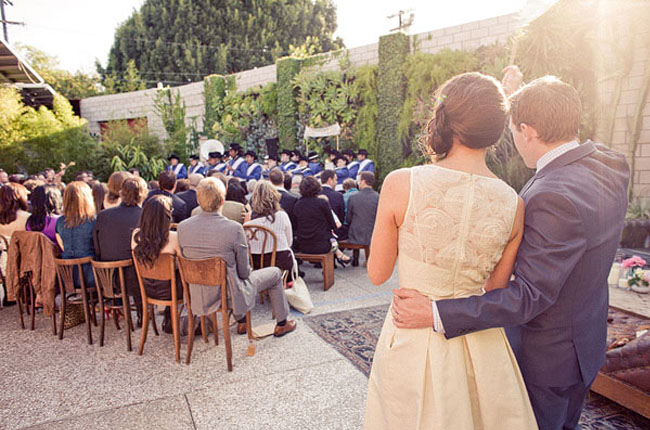 smog shoppe wedding with band