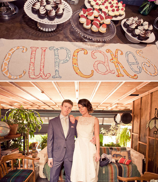 cupcake wedding sign