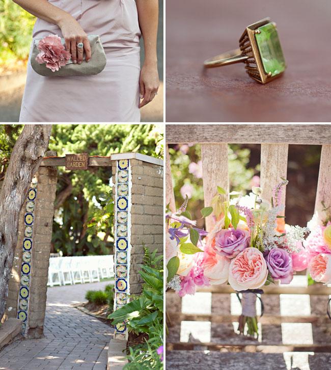 green stone wedding ring