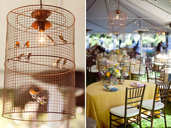 bird cage lamp wedding decor