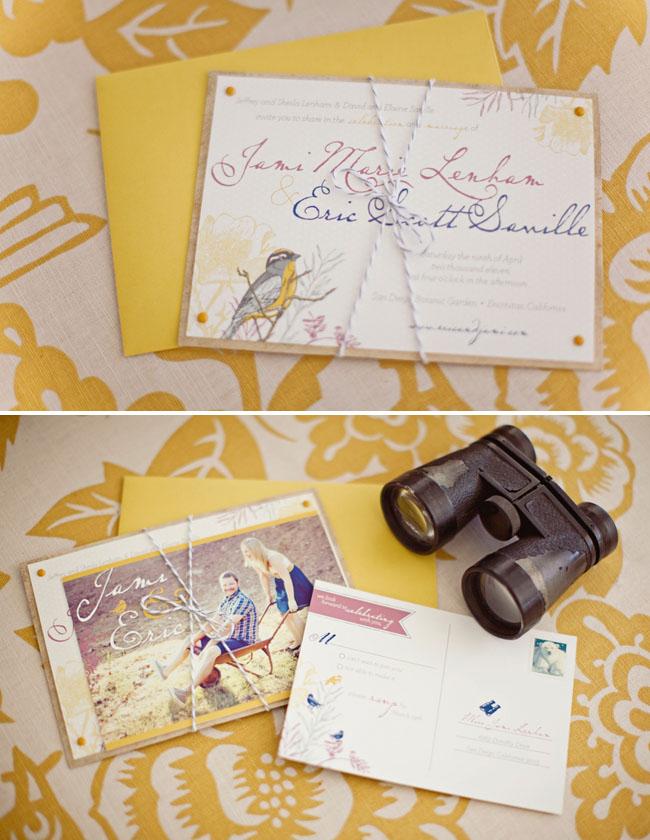 wedding invitations bird
