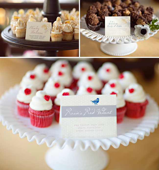 wedding decor cupcakes
