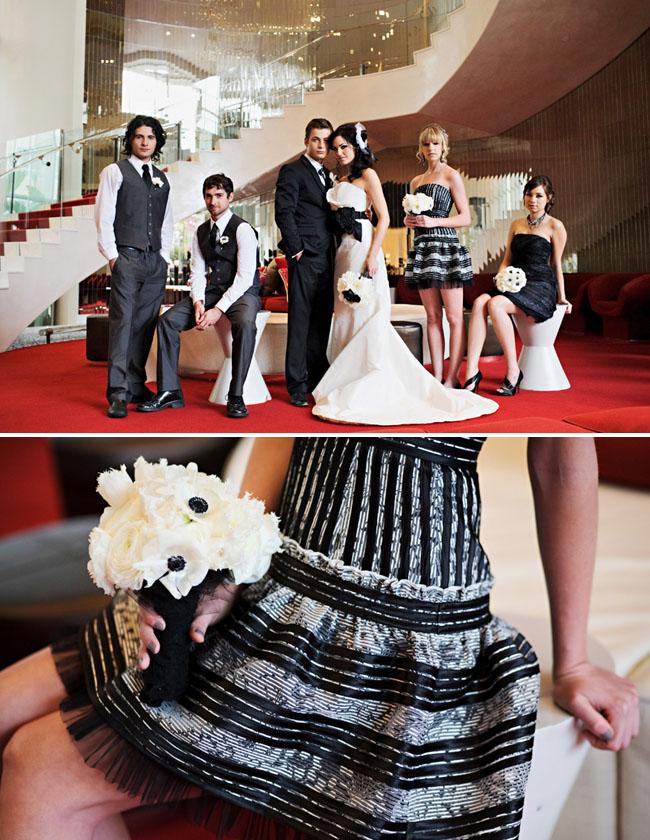 modern wedding party