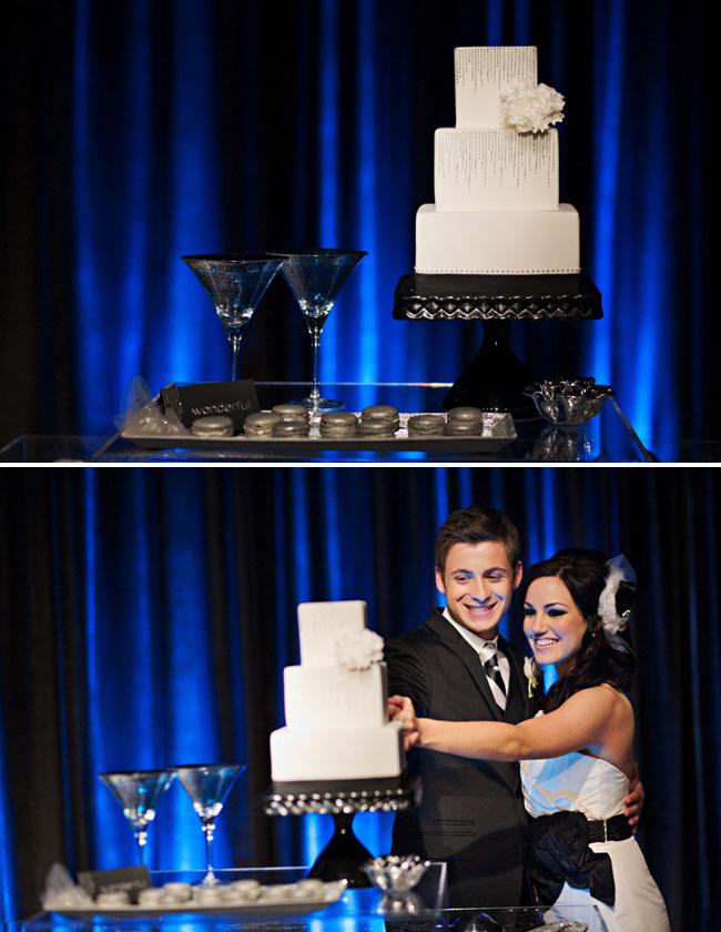 modern glam wedding cake
