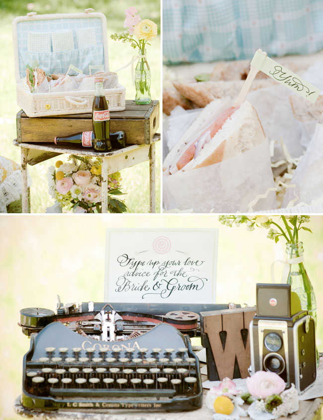 typewriter at wedding