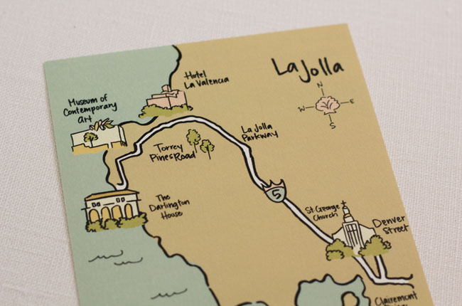 illustrated wedding maps
