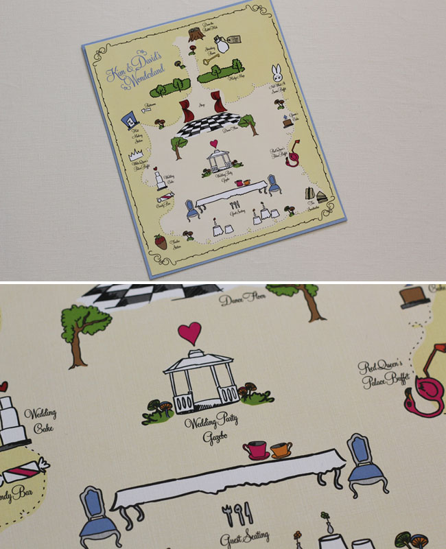 alice in wonderland wedding map