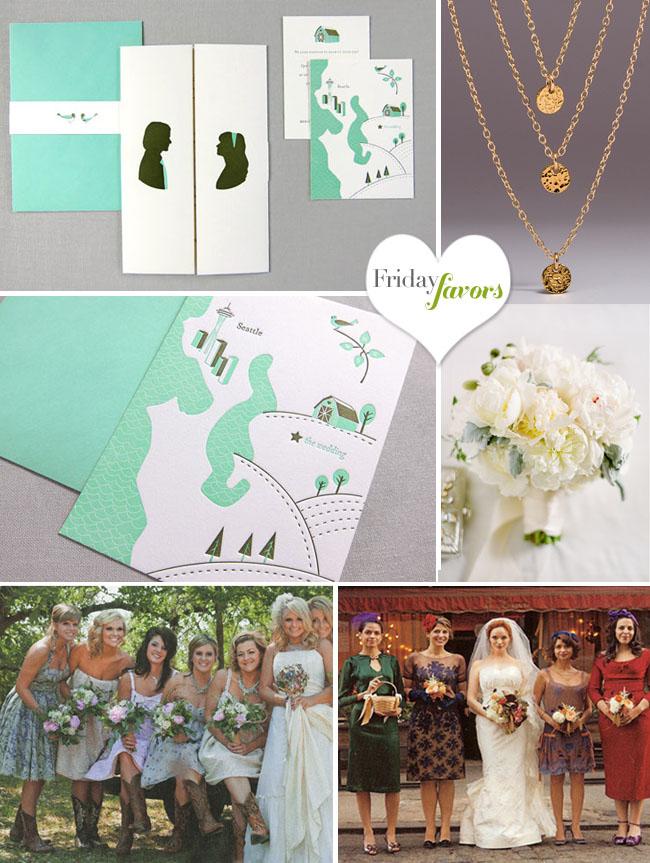 christina hendricks wedding bridal party