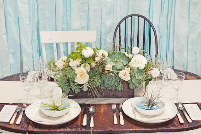 airplant wedding table decor
