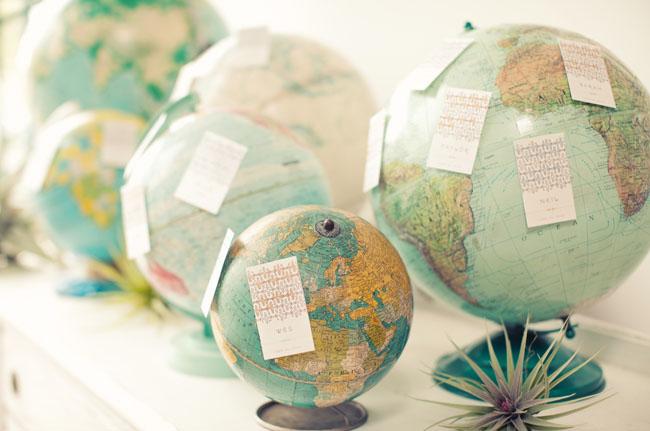 globes as wedding decor