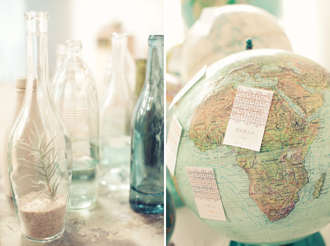 globes as wedding decor