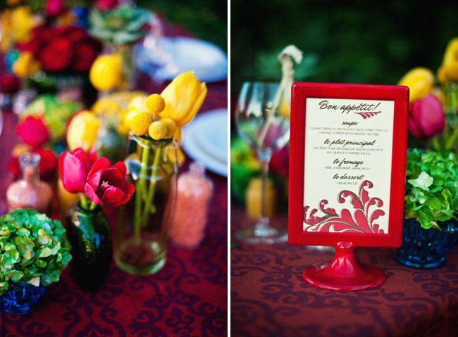 amelie wedding table red decor