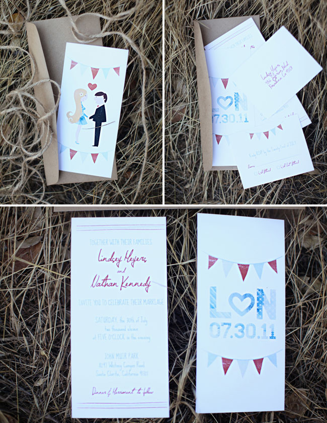 americana wedding invitations
