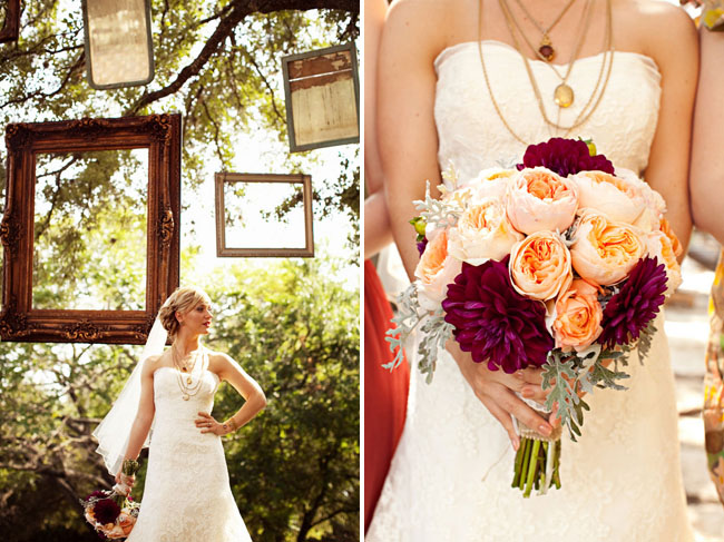 An anthropologie inspired wedding in texas green wedding shoes hanging frames at wedding junglespirit Choice Image