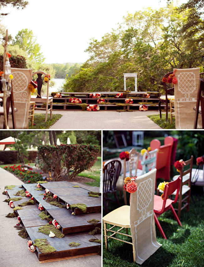 anthropologie wedding ceremony decor