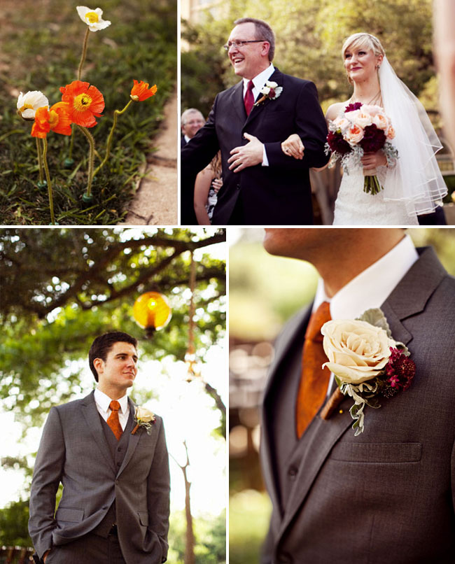 wedding with poppies