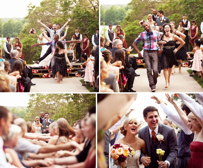 flash mob at an outdoor wedding