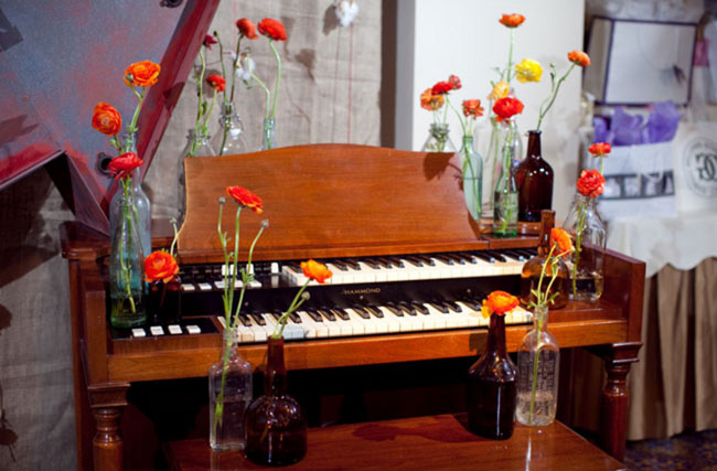 poppies and piano