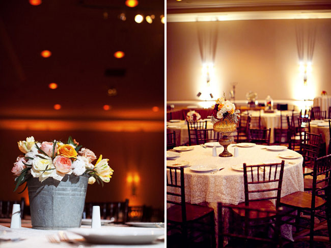 wedding ballroom with anthropologie decor