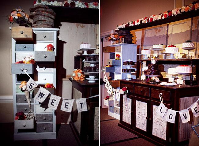 dessert display wedding anthropologie