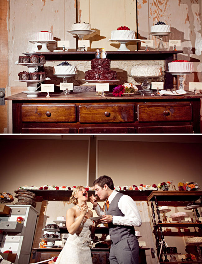 dessert display wedding anthropologie