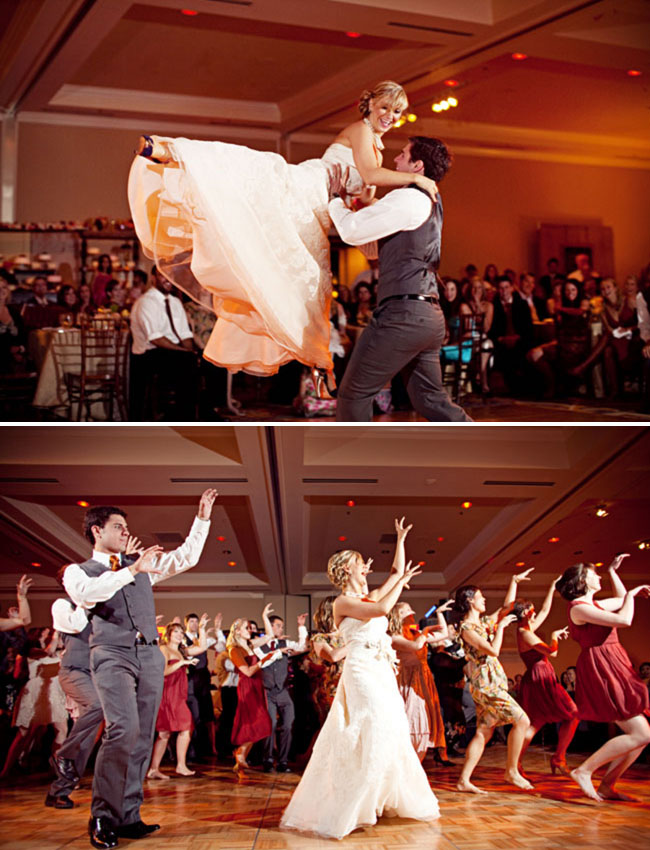 thriller flash mob at wedding