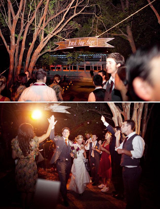 wedding exit texas