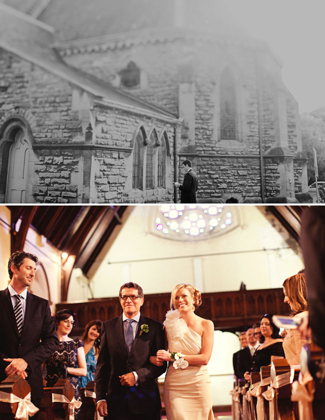 wedding at a church