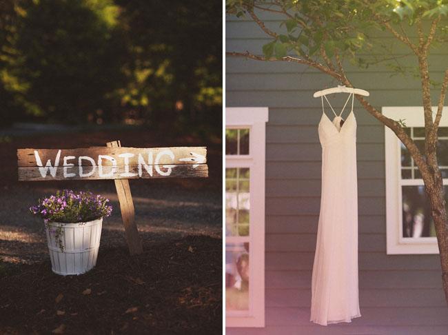 backyard wedding wood sign