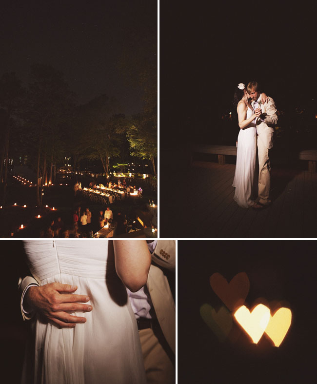 backyard wedding dancing under the stars