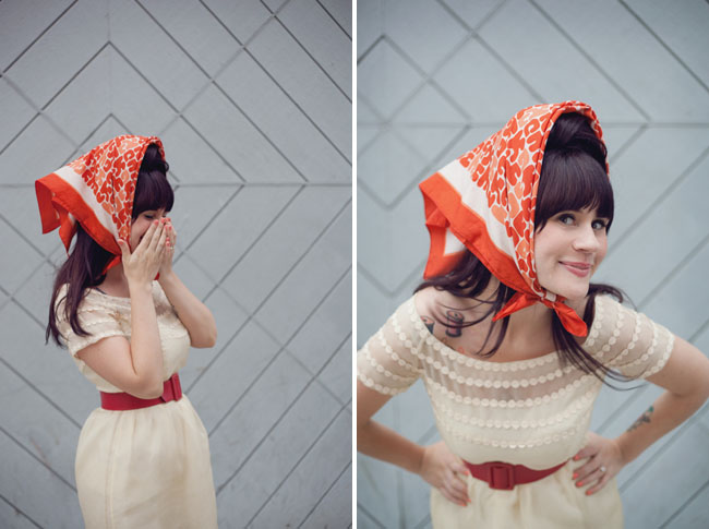 bridal portraits scarf elsie
