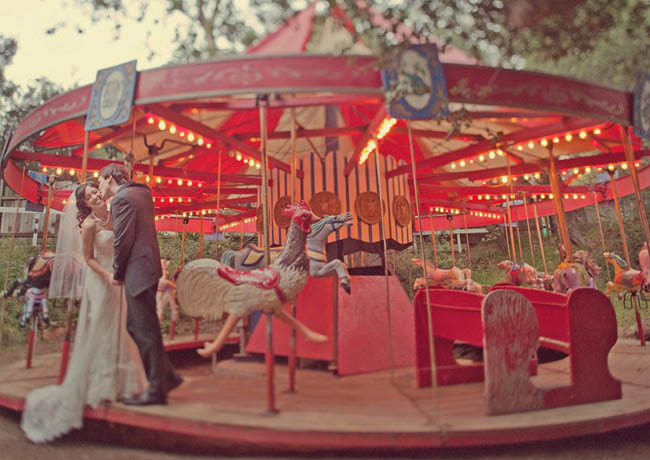 calamigos ranch wedding carousal