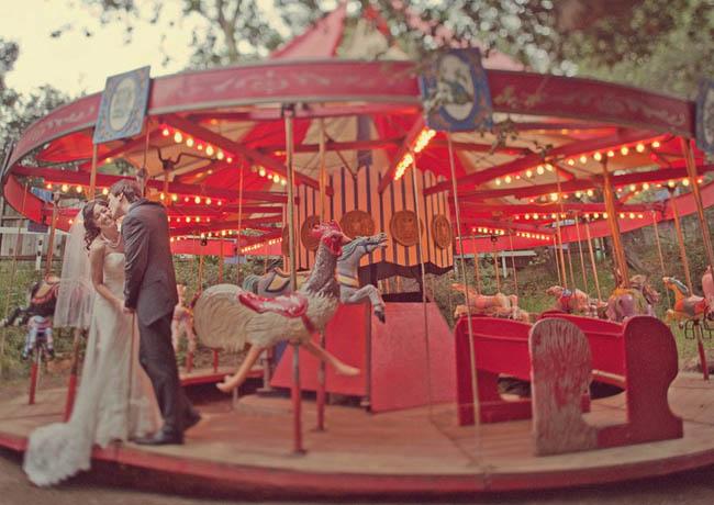 calamigos ranch wedding carousal