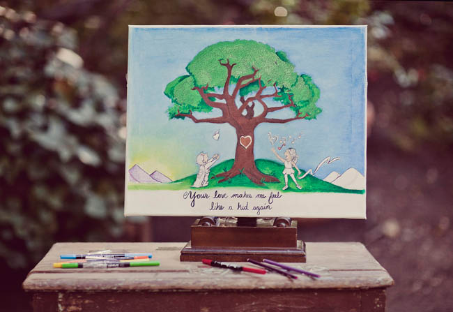 wedding painting tree