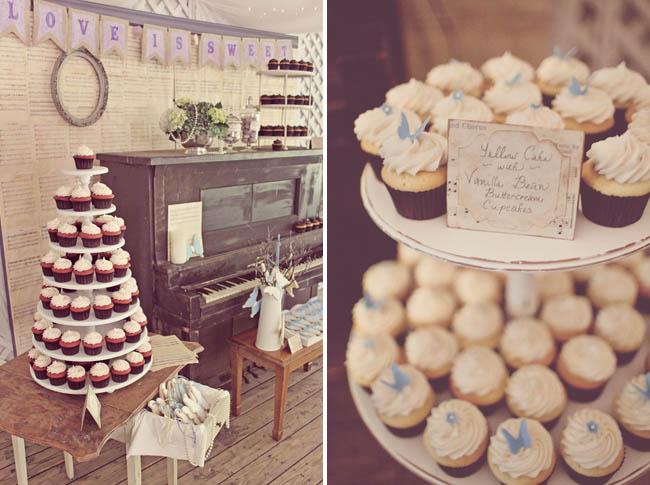 love is sweet dessert table cupcakes wedding