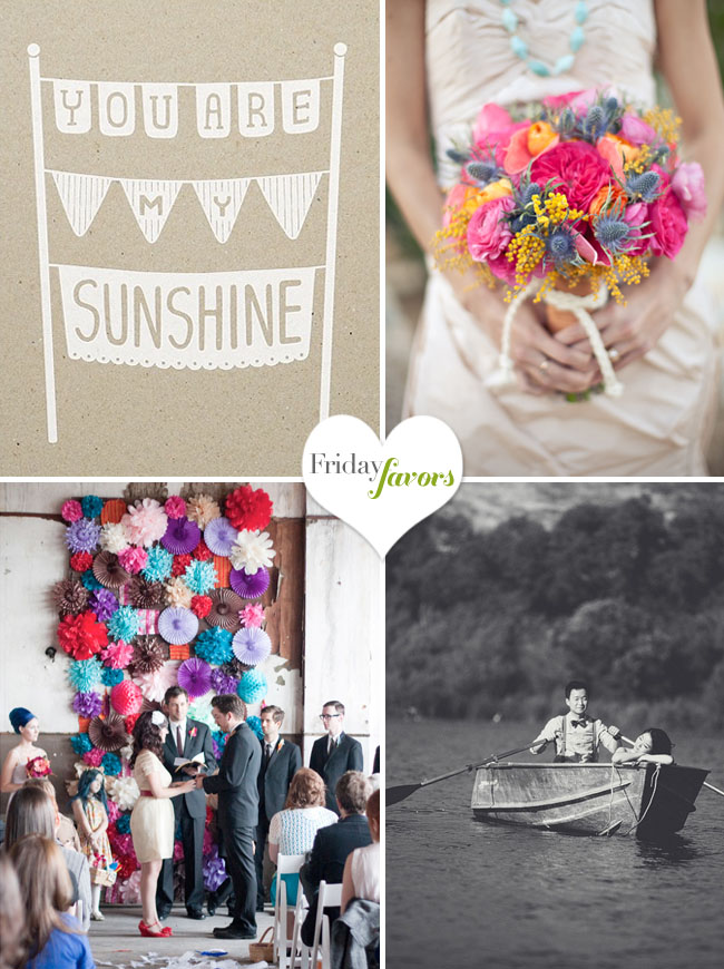 colorful ceremony backdrop