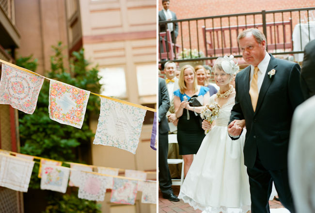 handkerchief bunting wedding ceremony